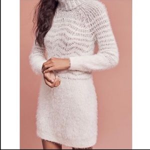 Anthropologie Sleeping on Snow Sweater Dress NWT